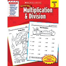Scholastic Success With Multiplication Division Workbook