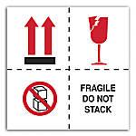 Preprinted International Safe Handling Labels Fragile