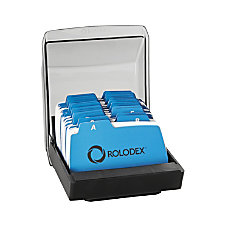 Rolodex Covered Petite File 250 Card