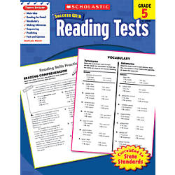 Scholastic Success With Reading Tests Workbook