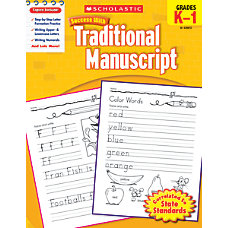 Scholastic Success With Traditional Manuscript Workbook
