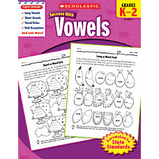 Scholastic Success With Vowels Workbook
