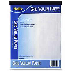 Helix Grid Vellum Paper Pad 50
