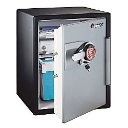 Sentry®Safe Fire-Safe® Electronic Advanced Safe, 2.0 Cu. Ft., Black/Gunmetal Gray