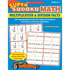 Super Sudoku Math Multiplication Division Facts
