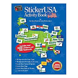 Barker Creek Sticker USA Activity Book