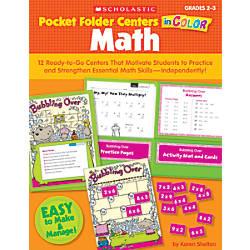 Scholastic Pocket Folder Centers In Color