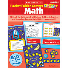 Scholastic Pocket Folder Centers In Color