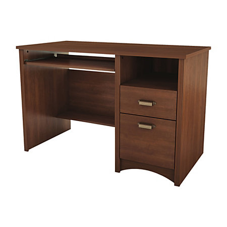 south shore furniture gascony wood small desk sumptuous cherry item