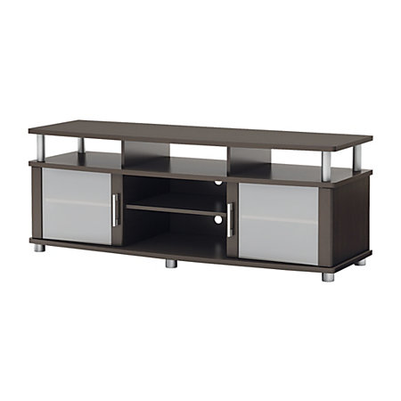 south shore furniture city life media stand for tvs up to 60 chocolate