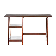 SEI Langston Straight Desk Espresso