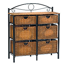 SEI IronWicker Storage Chest Rectangle BlackBrown