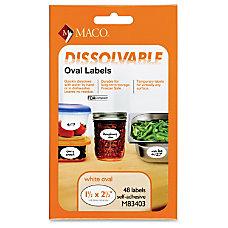 Maco Maco Dissolvable Labels 48 Labels