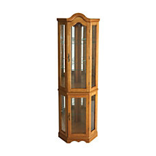 SEI Lighted Corner Curio Cabinet 70