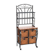 SEI IronWicker Bakers Rack 65 14