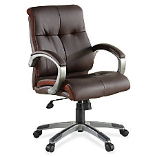 Lorell Bonded Leather Managerial Swivel Chair