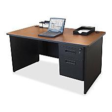 Lorell 67000 Series Single Pedestal Desk