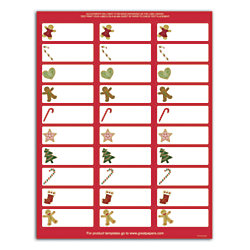 Great papers holiday address labels 2 58 x 1 ginger for Office depot address label template