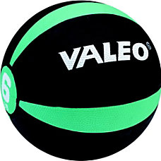 Valeo Medicine Ball 6 Lb BlackGreen