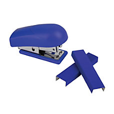 Office Depot Brand Mini Stapler Blue
