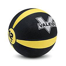 Valeo Medicine Ball 12 Lb BlackYellow