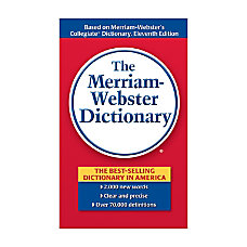 Merriam Websters Dictionary Pack Of 3