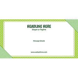 Custom Horizontal Banner Green Checks