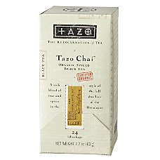 Tazo Organic Chai Tea Bags Box