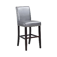 Powell Home Fashions Metallic Barstool PewterBrown