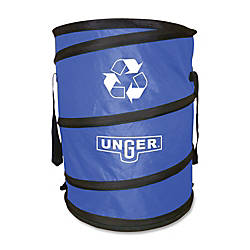 Unger® Collapsible Recycling Trash Bag, 30 Gallons, Blue