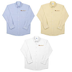 Mens Long Sleeve Oxford Shirt CottonPolyester