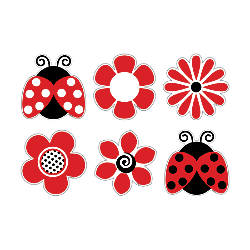 Barker Creek Accents Ladybugs Posies Pack