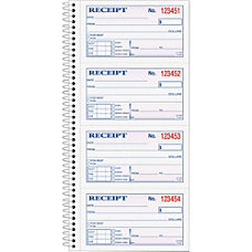 TOPS MoneyRent Receipt Book 2 Part