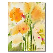 Trademark Global Orange Flowers Gallery Wrapped