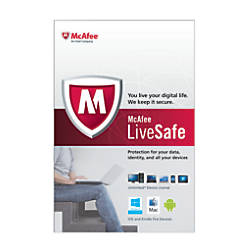Mcafee livesafe for pcmac traditional disc by office depot amp officemax
