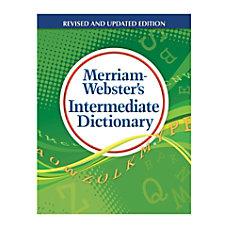 Merriam Webster s Intermediate Dictionary Grades