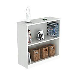 Inval 2 Shelf Bookcase Laricina White
