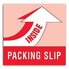 Preprinted Shipping Labels Packing Slip Inside