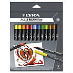 Dixon LYRA Aquabrush Duo Markers BroadFine