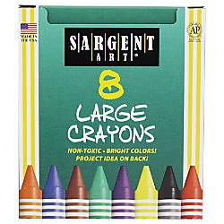 Sargent Art Large Crayons Tuck Box