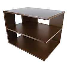 Victor Mocha Brown Collection Corner Shelf