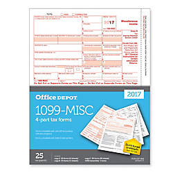Office Depot Brand 1099 MISC Tax