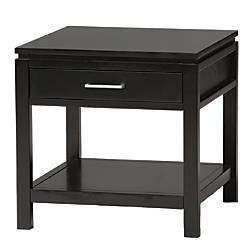 Linon Sutton End Table Black