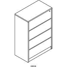 HON 10500 Series Laminate Wood Lateral