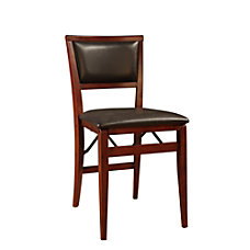 Linon Keira Pad Back Folding Chair