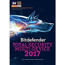 BitDefender Total Security 2017 For 5