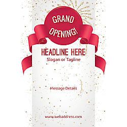 Custom Vertical Poster Grand Opening Celebration