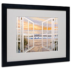 Trademark Global Elongated Window Framed Matted