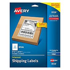 Avery TrueBlock White Inkjet Internet Shipping