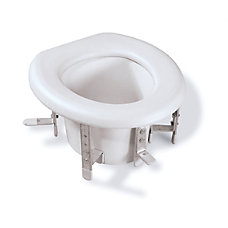 Medline Universal Raised Toilet Seat White
